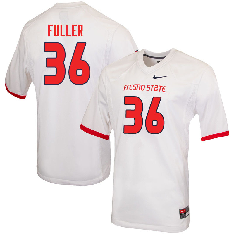 Men #36 Cade Fuller Fresno State Bulldogs College Football Jerseys Sale-White