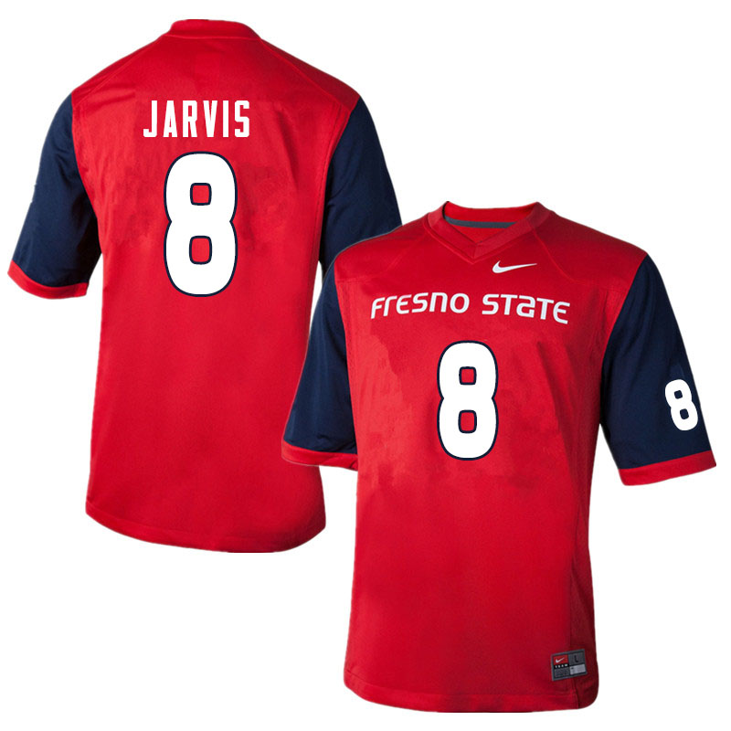 Men #8 Deven Jarvis Fresno State Bulldogs College Football Jerseys Sale-Red