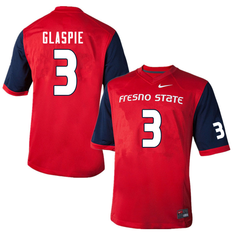 Men #3 Jamal Glaspie Fresno State Bulldogs College Football Jerseys Sale-Red