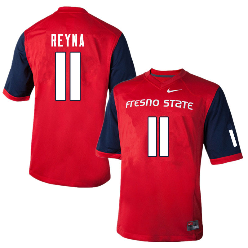 Men #11 Jorge Reyna Fresno State Bulldogs College Football Jerseys Sale-Red