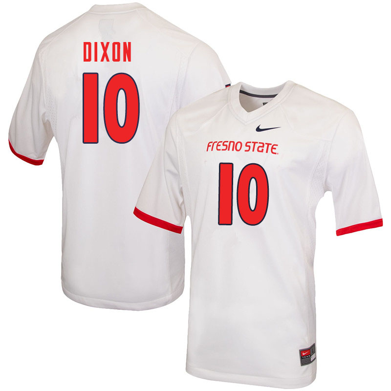 Men #10 Peyton Dixon Fresno State Bulldogs College Football Jerseys Sale-White