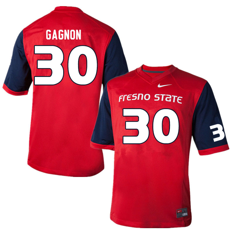 Men #30 Kenny Gagnon Fresno State Bulldogs College Football Jerseys Sale-Red