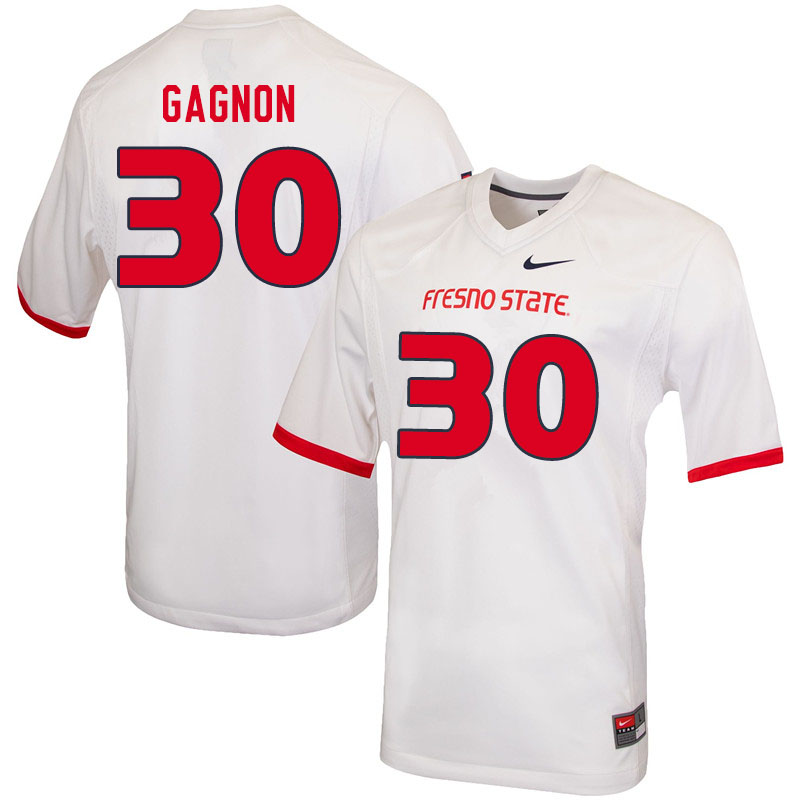 Men #30 Kenny Gagnon Fresno State Bulldogs College Football Jerseys Sale-White
