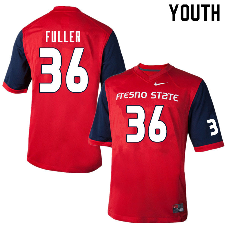 Youth #36 Cade Fuller Fresno State Bulldogs College Football Jerseys Sale-Red