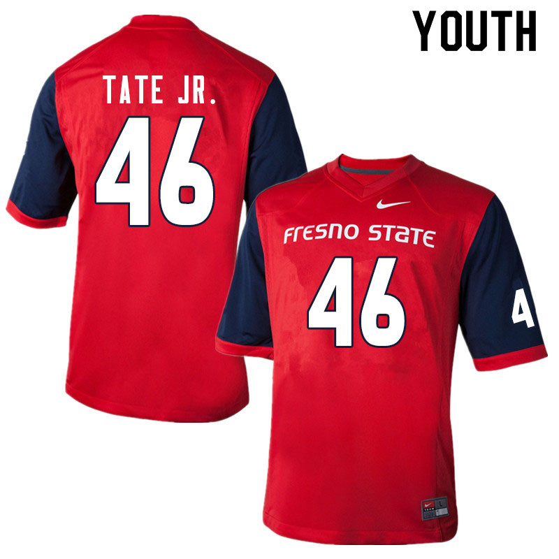 Youth #46 David Tate Jr. Fresno State Bulldogs College Football Jerseys Sale-Red