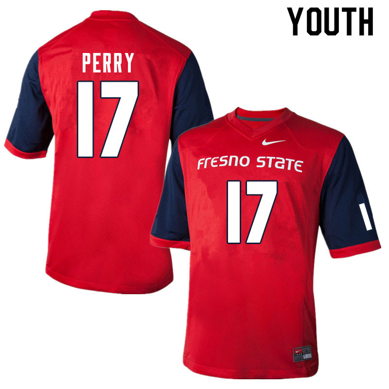 Youth #17 Deonte Perry Fresno State Bulldogs College Football Jerseys Sale-Red