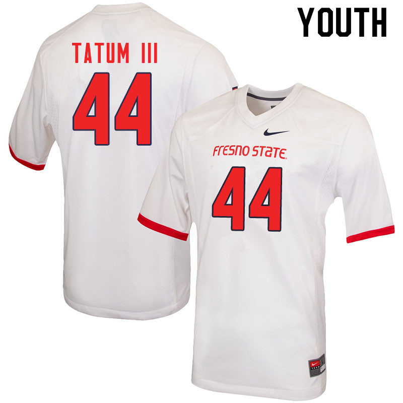 Youth #44 Leevel Tatum III Fresno State Bulldogs College Football Jerseys Sale-White