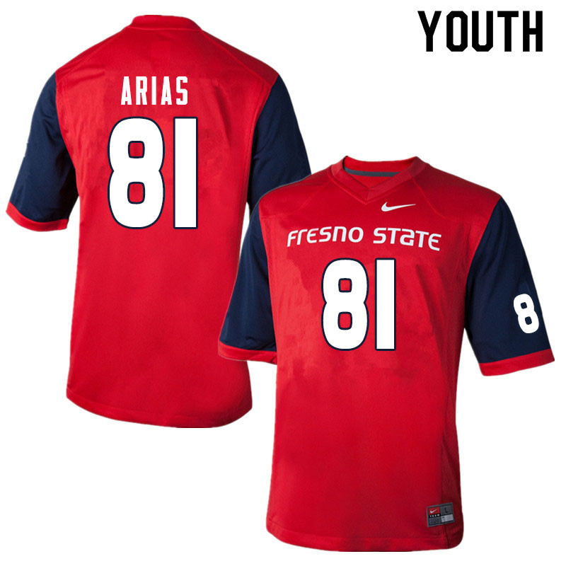 Youth #81 Ricardo Arias Fresno State Bulldogs College Football Jerseys Sale-Red