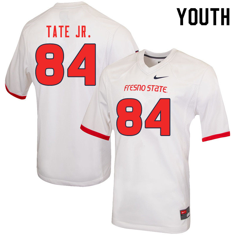 Youth #84 David Tate Jr. Fresno State Bulldogs College Football Jerseys Sale-White