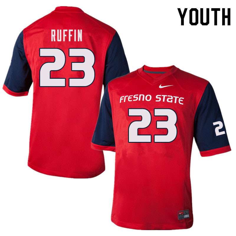 Youth #23 Deshawn Ruffin Fresno State Bulldogs College Football Jerseys Sale-Red