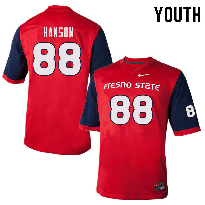 Youth #88 Rory Hanson Fresno State Bulldogs College Football Jerseys Sale-Red