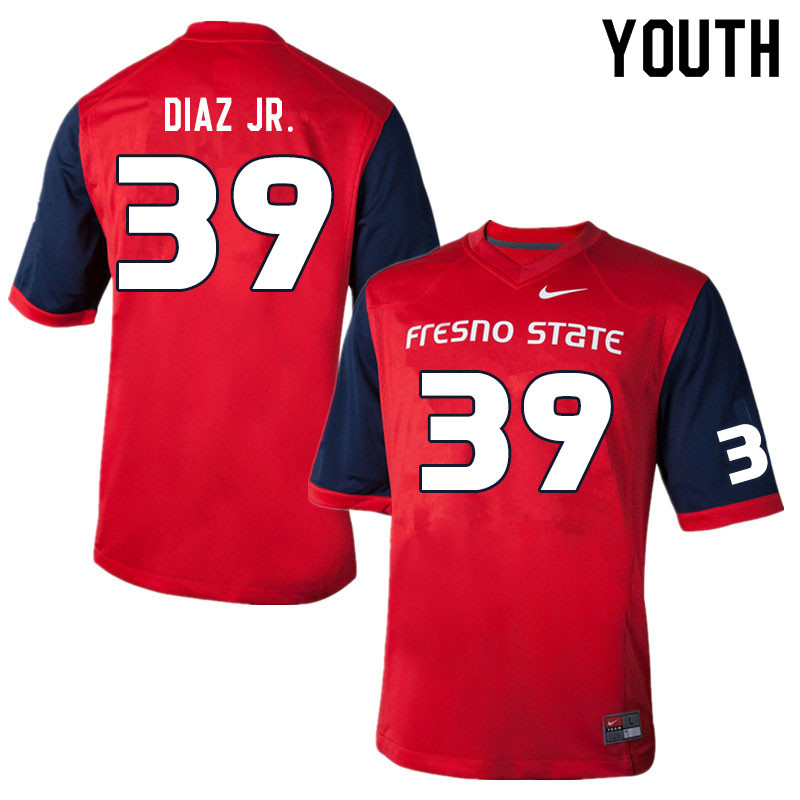Youth #39 Jason Diaz Jr. Fresno State Bulldogs College Football Jerseys Sale-Red
