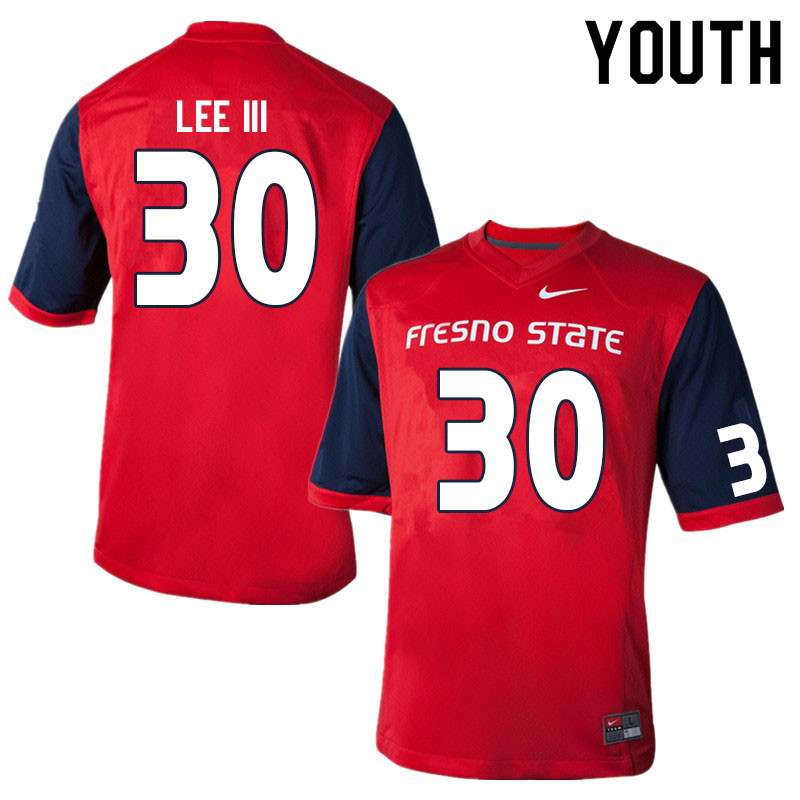 Youth #30 McKinley Lee III Fresno State Bulldogs College Football Jerseys Sale-Red