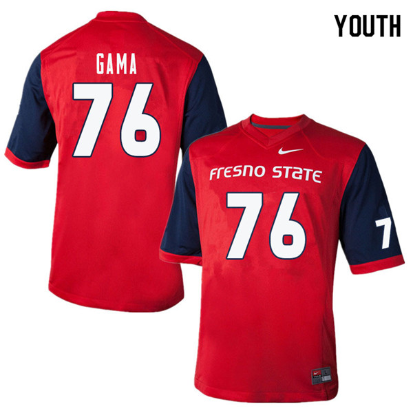 Youth #76 Shane Gama Fresno State Bulldogs College Football Jerseys Sale-Red