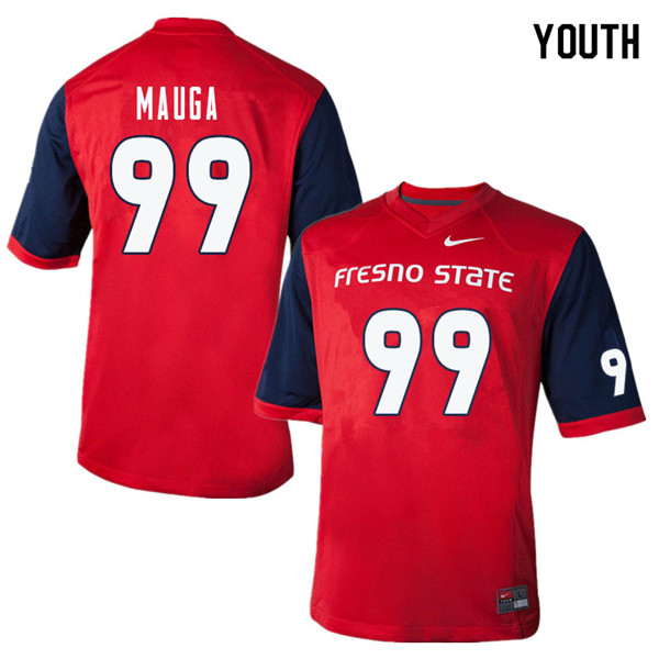 Youth #99 T.J. Mauga Fresno State Bulldogs College Football Jerseys Sale-Red